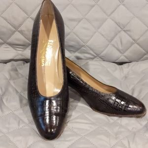 Salvatore Ferragamo Crocodile Leather Heels